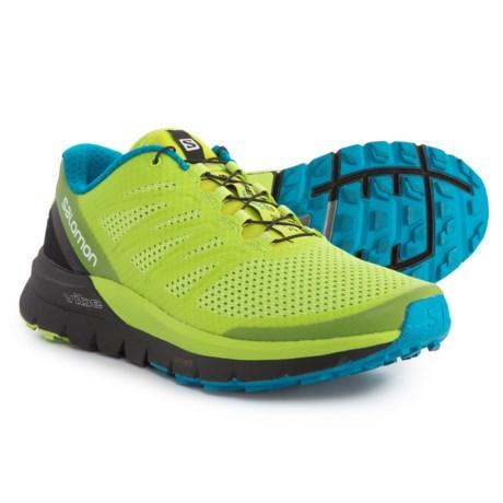 Salomon Sense Pro Max Trail Running Shoes (For Men) in Lime Punch/Black/Hawaiian Ocean