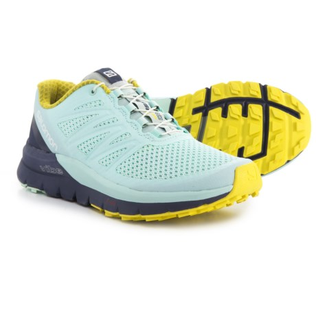 Salomon Sense Pro Max Trail Running Shoes (For Women) in Fair Aqua/Crown Blue/Sulphur Spring