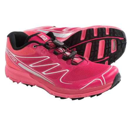 Salomon Sense Pro Trail Running Shoes (For Women) in Lotus Pink/Papaya B/Black - Closeouts