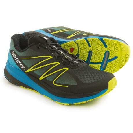 Salomon Sense Propulse Trail Running Shoes (For Men) in Black/Methyl Blue/Gecko Green