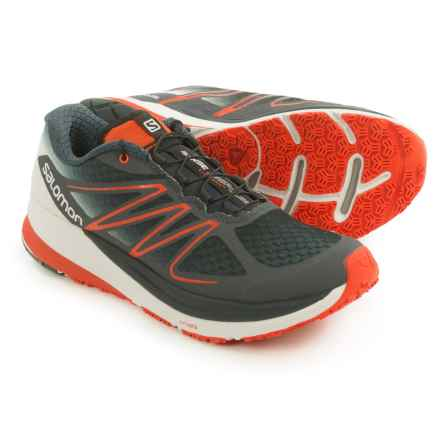 Salomon Sense Propulse Trail Running Shoes (For Men) in Deep Blue/Grey Denim/Tomato Red - Closeouts