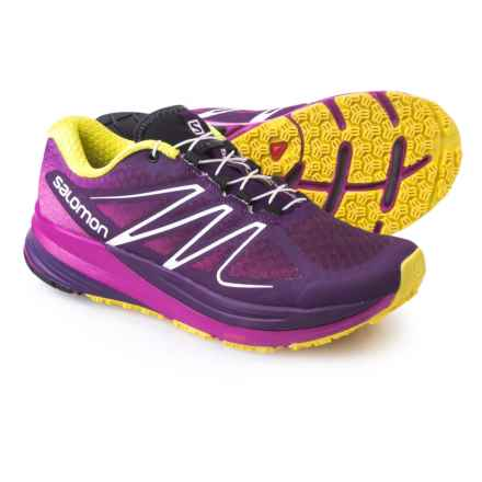 Salomon Sense Propulse Trail Running Shoes (For Women) in Cosmic Purple/Pinkk/Yellow - Closeouts