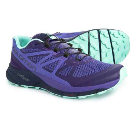 Salomon Sense Ride Trail Running Shoes (For Women) in Parachute Purple/Purple Opulence/Beach