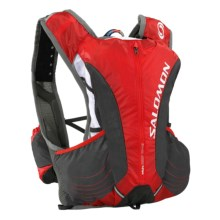 Salomon Skin Pro 10+3 Set Hydration Backpack - 1.5L (For Men and Women) in Bright Red/Asphalt - Closeouts