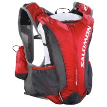 Salomon Skin Pro 14+3 Set Backpack - 1.5L (For Men and Women) in Bright Red/Asphalt - Closeouts