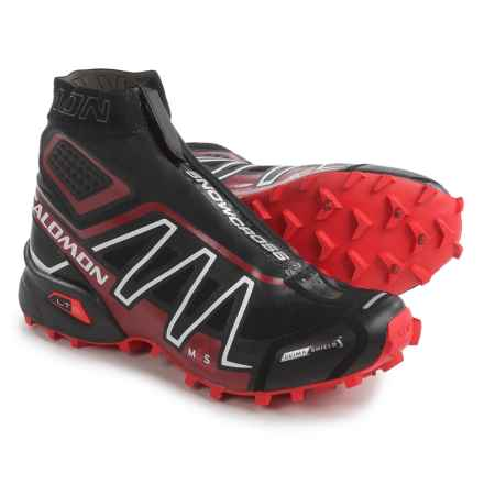 Salomon Snowcross CS Trail Running Shoes - Waterproof (For Men and Women) in Black/Radiant Red/White - Closeouts