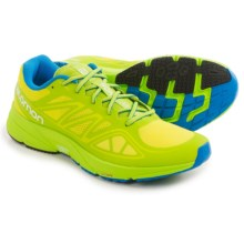 Salomon Sonic Aero Running Shoes (For Men) in Gecko Green/Granny Green/Union Blue - Closeouts