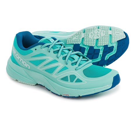 Salomon Sonic Aero Running Shoes (For Women) in Ceramic/Aruba Blue/Nautical Blue