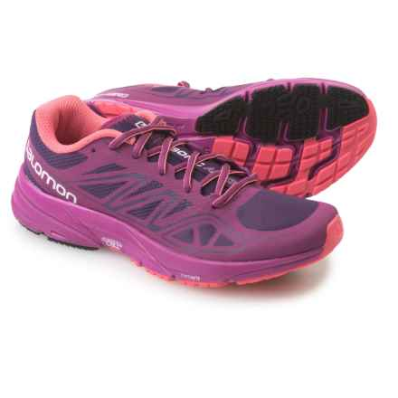 Salomon Sonic Aero Running Shoes (For Women) in Cosmic Purple/Pink/Madder - Closeouts