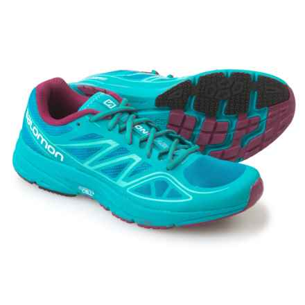 Salomon Sonic Aero Running Shoes (For Women) in Fog Blue/Teal Blue Mystic - Closeouts