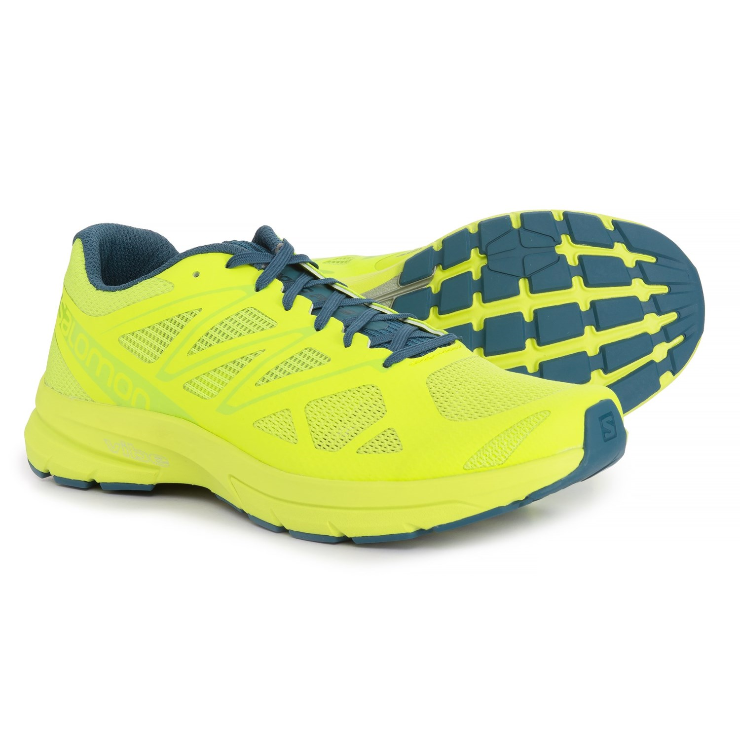 adaa6b48d0e4 Salomon Sonic Pro 2 Running Shoes (For Men) in Lime Punch Mallard Blue