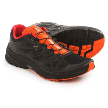 Salomon Sonic Pro Running Shoes (For Men) in Black/Black/Tomato Red - Closeouts
