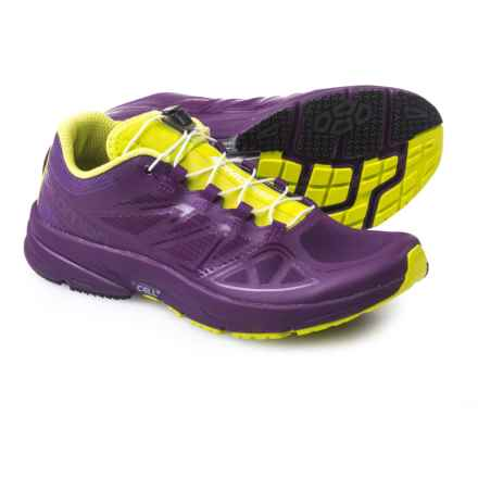 Salomon Sonic Pro Running Shoes (For Women) in Cosmic Purple/Cosmic Purple/Gecko Green - Closeouts