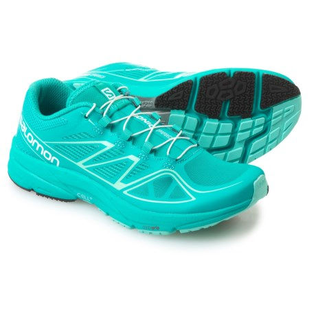 Salomon Sonic Pro Running Shoes (For Women) in Teal Blue /Teal Blue