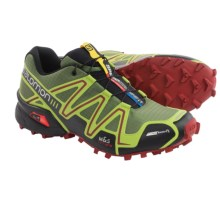 Salomon Speedcross 3 CS Trail Running Shoes (For Men) in Genepi X/Green Glow/Flea - Closeouts
