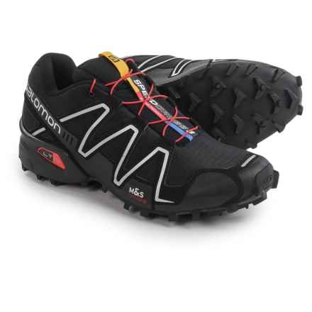 Salomon Speedcross 3 Trail Running Shoes (For Men) in Black/Black/Silver - Closeouts