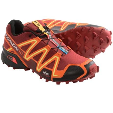 Salomon Speedcross 3 Trail Running Shoes (For Men) in Flea/Fall Orange/Black