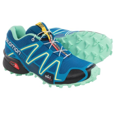 Salomon Speedcross 3 Trail Running Shoes (For Women) in Darkness Blue/Boss Blue/Lucite Green