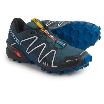 Salomon Speedcross 3 Trail Running Shoes - Lightweight (For Men) in Deep Blue/Black - Closeouts