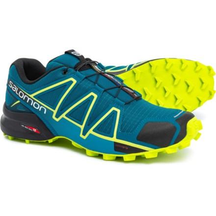 9ceb85d2c0c2 Salomon Speedcross 4 Deep Trail Running Shoes (For Men) in Deep Lagoon Acid
