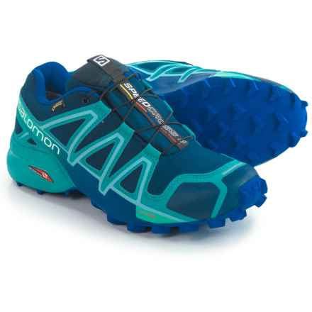 Salomon Speedcross 4 Gore-Tex® Trail Running Shoes - Waterproof (For Women) in Blue Depth/Blue Gum/Blue Yonder - Closeouts
