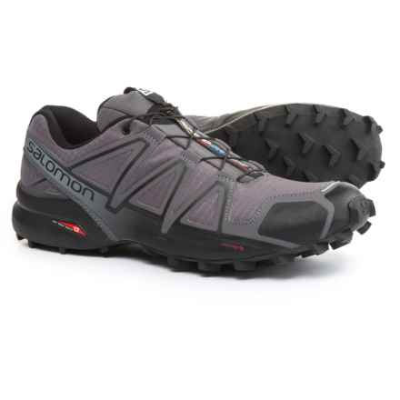 Salomon Speedcross 4 Trail Running Shoes (For Men) in Dark Cloud/Black/Pearl Grey - Closeouts