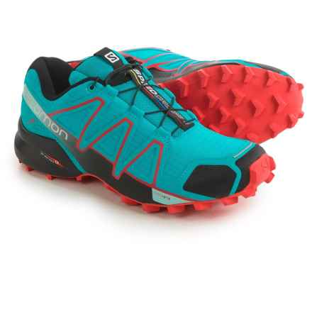 Salomon Speedcross 4 Trail Running Shoes (For Women) in Blue Jay/Black/Infrared - Closeouts