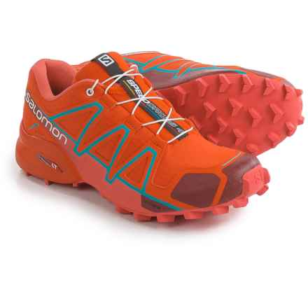 Salomon Speedcross 4 Trail Running Shoes (For Women) in Red/Coral Punch/Blue Jay - Closeouts