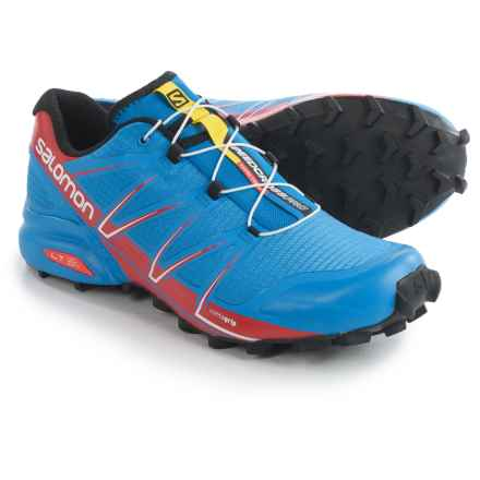 Salomon Speedcross Pro Trail Running Shoes (For Men) in Bright Blue/Radiant Red/Black - Closeouts