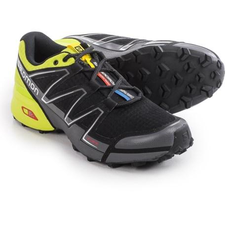 Salomon Speedcross Vario Trail Running Shoes (For Men) in Black/Gecko Green/Dark Cloud