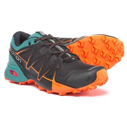 Salomon Speedcross Vario Trail Running Shoes (For Men) in Black/North Atlantic/Scarlet Ibis - Closeouts