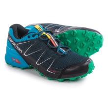 Salomon Speedcross Vario Trail Running Shoes (For Men) in Deep Blue/Methyl Blue/Real Green - Closeouts