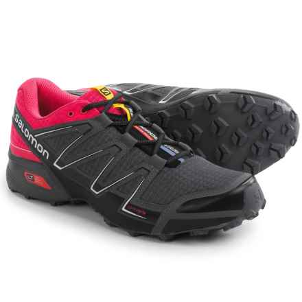 Salomon Speedcross Vario Trail Running Shoes (For Women) in Black/Hot Pink/Dark Cloud - Closeouts