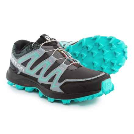 Salomon Speedtrak Trail Running Shoes (For Women) in Dark Cloud/Light Onix/Bubble Blue - Closeouts