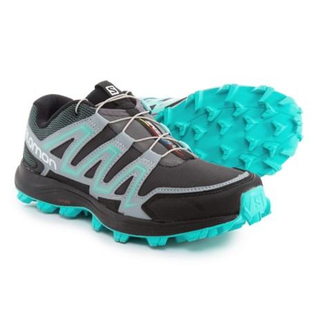Salomon Speedtrak Trail Running Shoes (For Women) in Dark Cloud/Light Onix/Bubble Blue