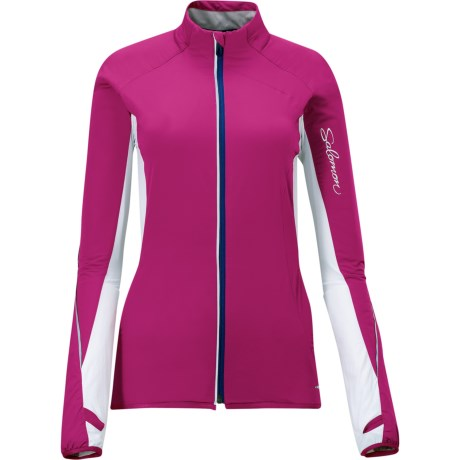 Salomon Super Fast II Jacket - Insulated (For Women) in Pink/White
