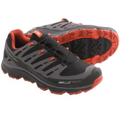 Salomon Synapse CS Trail Shoes - Waterproof (For Men) in Black/Dark Cloud/Orange