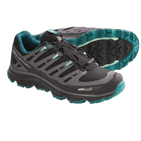 Salomon Synapse CS Trail Shoes - Waterproof (For Women) in Black/Cloud