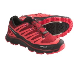 Salomon Synapse CS Trail Shoes - Waterproof (For Women) in Burgundy/Black/Papaya
