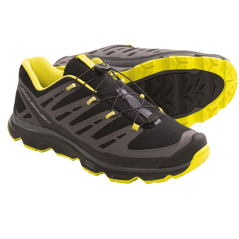 Salomon Synapse Hiking Shoes (For Men) in Black/Asphalt/Mimosa Yellow