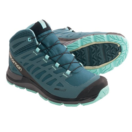 Salomon Synapse Mid CS Hiking Boots - Waterproof (For Women) in Grey/Grey/Blue