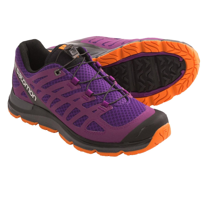 Salomon Synapse W+ Hiking Shoes (For Women) in Grape Juice/Pr/Orange