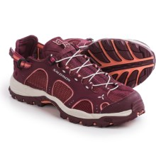 Salomon Techamphibian 3 Water Shoe (For Women) in Bordeaux/Carmine/Melon Bloom - Closeouts