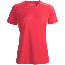 Salomon Trail IV Shirt - Short Sleeve (For Women) in Cerise - Closeouts