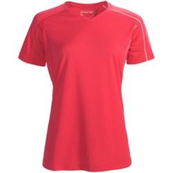 Salomon Trail IV Shirt - Short Sleeve (For Women) in Cerise