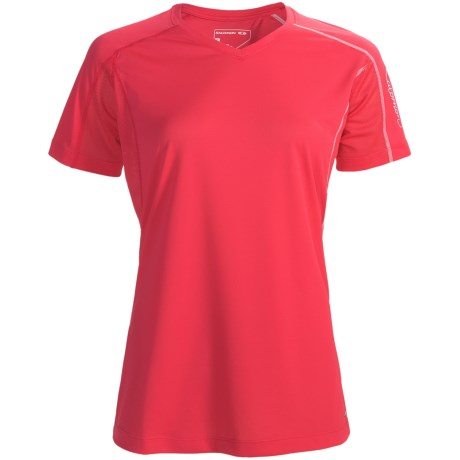 Salomon Trail IV Shirt - Short Sleeve (For Women) in Cerise