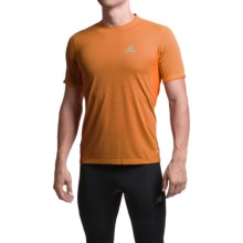 Salomon Trail Runner Shirt - Short Sleeve (For Men) in Clementine-X - Closeouts