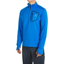 Salomon Trail Runner Warm Shirt - Zip Neck, Long Sleeve (For Men) in Union Blue - Closeouts