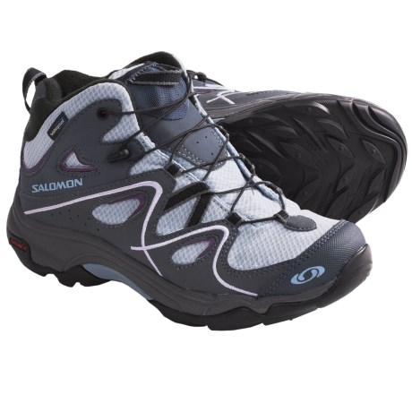 Salomon Trax Mid Hiking Shoes - Waterproof (For Kids and Youth) in Blue/Grey