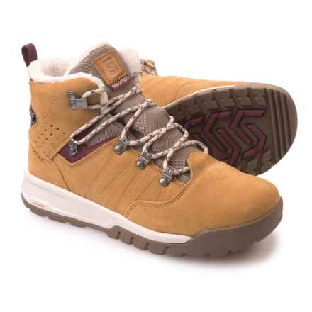 Salomon Utility TS Climashield® Winter Boots - Waterproof, Insulated (For Women) in Beige Ltr/Shrew/Bordeaux - Closeouts